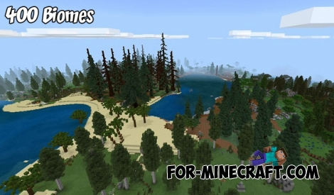 400+ Biomes Custom map for Minecraft 1.8