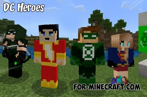 DC Heroes addon for Minecraft PE 1.8