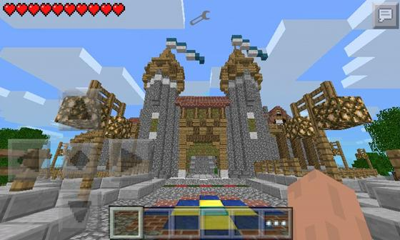 Fortress city map for Minecraft PE