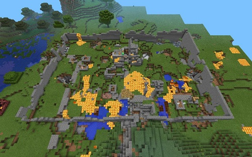 Survival with the inhabitants! New map for Minecraft Pocket Edition ...