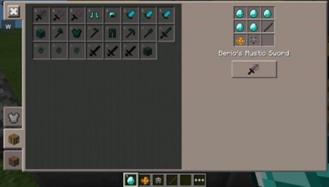 Modpack Fantasy Craft - new swords, ores, armor in MCPE 0.9.5