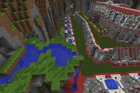 Map «The Red Palace» for Minecraft PE 0.9.5.1