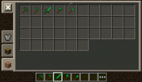 Emerald ToolsMod for Minecraft Pocket Edition 0.9.5.2
