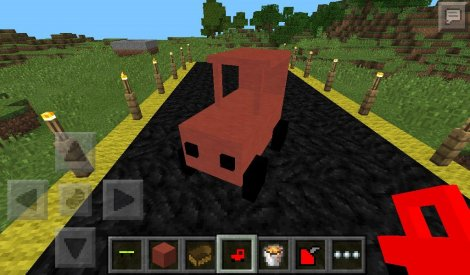 Script on the car for Minecraft Pocket Edition 0.9.5.2