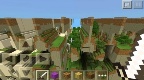 Map of The Far Lands for MCPE 0.9.5.X