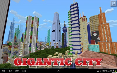 Enclave City map for Minecraft PE 0 12 1