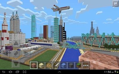 GIGANTIC CITY map for Minecraft PE 0.9.5