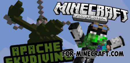 Apache Skydiving Minigame map for Minecraft Pocket Edition 0.10.0