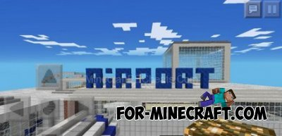 HUGE-AIRPORT map for Minecraft PE