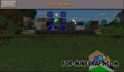 Comands and Bur mod for Minecraft PE 0.9.5