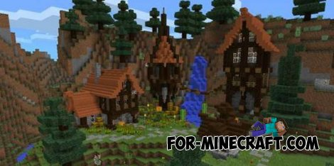 Mountain village map for Minecraft PE 0.10.0