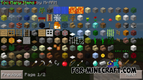 Too Many Items for Minecraft Pocket Edition 0.9.5/0.10.0