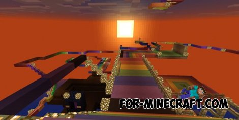 Rainbox road Map for Minecraft PE 0.10.0