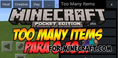Too Many Items mod for Minecraft PE 0.10.4