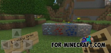 LUCKY ORE'S mod for Minecraft PE 0.10.0