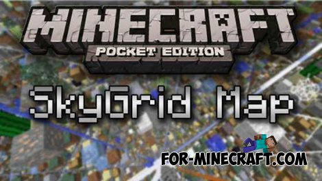 SkyGrid map for Minecraft Pocket Edition 0.10.4