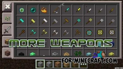 More Weapons mods for MCPE 0.10.4