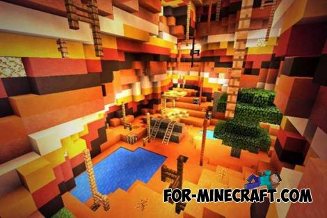 Fallen Earth map for Minecraft PE 0.10.4