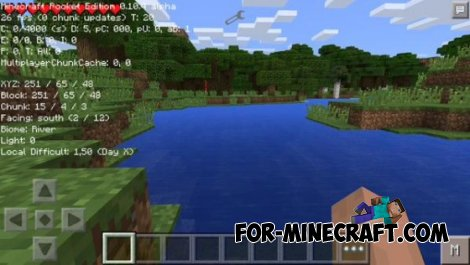Debug mod for Minecraft Pocket Edition 0.10.4