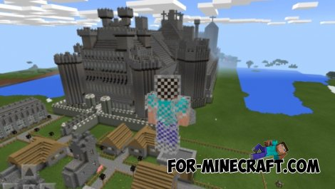 Huge castle for Minecraft PE 0.10.4