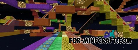Rainbow Road v3.1 map for Minecraft Pocket Edition 0.10.4