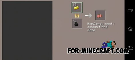 Candy Tools mod for Minecraft PE 0.10.4