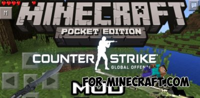 Counter Strike mod for Minecraft PE 0.10.4