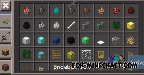 Snow Gun mod for Minecraft Pocket Edition 0.10.5