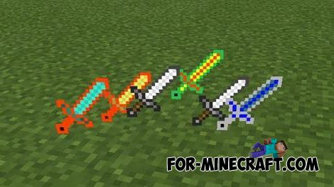 More Swords Mod for MCPE 0.10.5