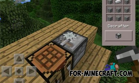 Decrafter mod for MCPE 0.10.5