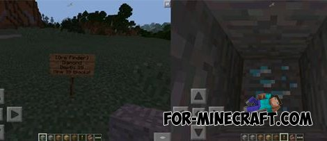Ore Finder mod for Minecraft PE 0.10.X