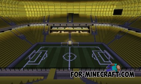 Football Stadium map for Minecraft Pocket Edition 0.10.5