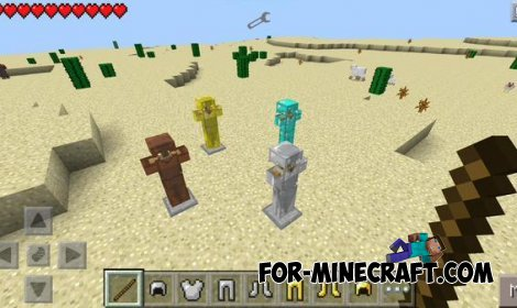 Armor Stand mod for Minecraft Pocket Edition 0.10.5