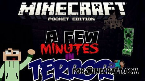 A FeW MinUtes In TerrOr map Minecraft PE 0.10.5