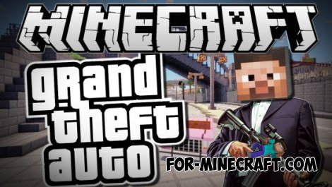 GTA San Andreas v3.7 mod for Minecraft Pocket Edition 0.10.5