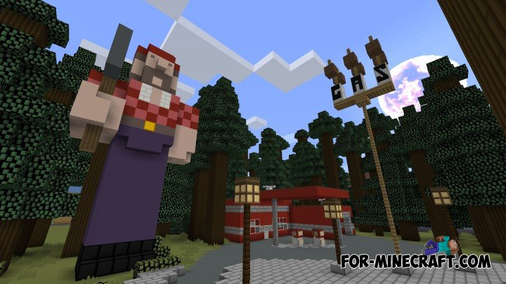 Gravity falls map for Minecraft Pocket Edition 0.10.X