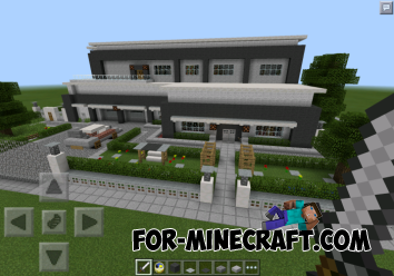 Modern house for Minecraft PE 0.10.X
