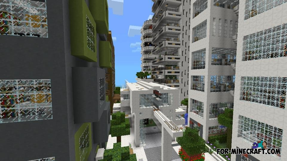 minecraft modern city map download