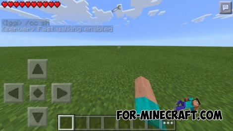 Cheat commands mod for MCPE 0.10.5