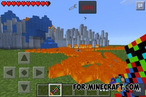 Legend Stick mod for Minecraft PE 0.10.5