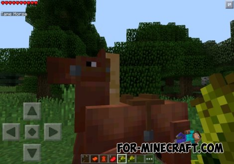 Horse mod for Minecraft PE 0.10.5