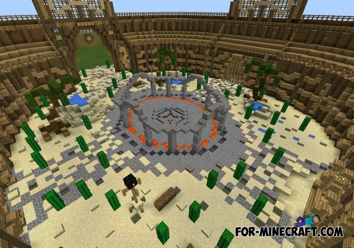 Roman Gladiators Arena map for MCPE 0 10 5 / 0 11 0