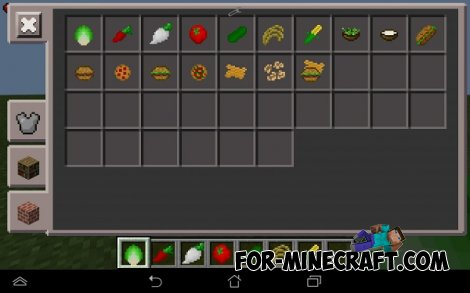 Agriculture mod for Minecraft PE 0.10.5