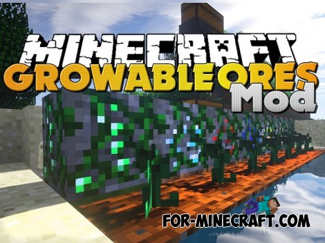 Growable Ores mod for MCPE 0.10.X
