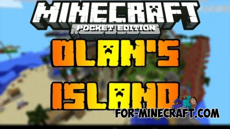 Ollan island map for Minecraft PE 0.10.5 / 0.11.0