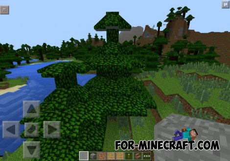 NoBlocks Mod (Sloped Nature / Smooth Terrain) for Minecraft PE 0.10.5