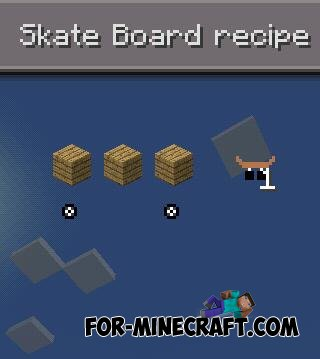 Skateboard Mod for Minecraft PE 0.10.5
