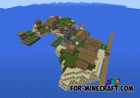 Island of residents seed for Minecraft Pocket Edition