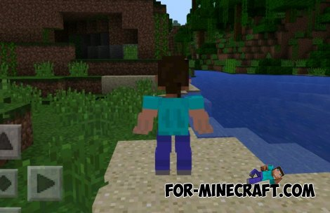 3D Player Model Mod for Minecraft PE 0.10.5