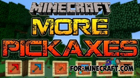 More pickaxes mod for Minecraft 1.8